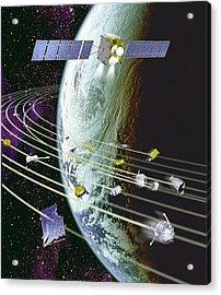 Space Debris Acrylic Print by David Ducros