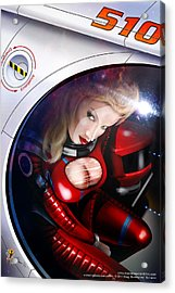 Space Girl Acrylic Print