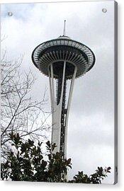 Space Needle In Seattle Acrylic Print by Judyann Matthews