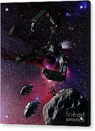 Space Scene Inspired By The Novels Acrylic Print by Rhys Taylor