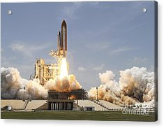 Space Shuttle Atlantis Lifting Acrylic Print by Stocktrek Images