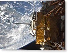 Space Shuttle Atlantis Payload Bay Acrylic Print by Stocktrek Images