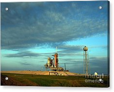 Space Shuttle Endeavor On Launch Pad Acrylic Print by Nasa