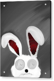 Spaced Bunny Acrylic Print by Andre Carrion