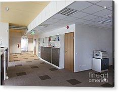 Spacious Office Hallway Acrylic Print