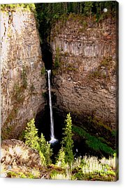 Acrylic Print featuring the photograph Spahats Creek Falls by Kathy Bassett