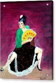 Spanish Dancer Acrylic Print