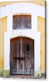 Spanish Fort Door Castillo San Felipe Del Morro San Juan Puerto Rico Prints Acrylic Print by Shawn O'Brien