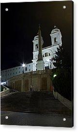 Spanish Steps At Night Acrylic Print