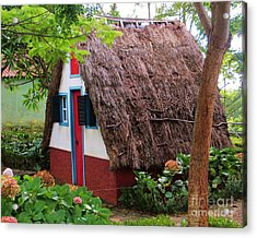 Spanish Thatched Cottage Acrylic Print