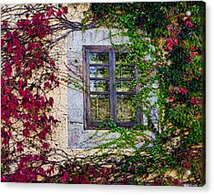 Acrylic Print featuring the photograph Spanish Window by Don Schwartz