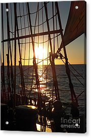 Sparkle In The Rigging Acrylic Print by L Jaye Bell