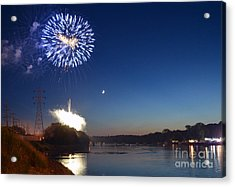 Sparkling Water  Acrylic Print by Sue Stefanowicz