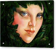 Spartan Queen Acrylic Print by Lakota Phillips