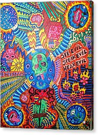 Speak No Evil Acrylic Print by Ragdoll Washburn