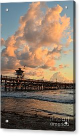 Spectacular San Clemente Clouds Acrylic Print by Timothy OLeary