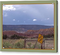 Acrylic Print featuring the photograph Speed Bumps by Susan Alvaro
