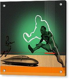 Speed Monsters Acrylic Print by Naxart Studio