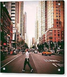 Speed Of Life - New York City Street Acrylic Print by Vivienne Gucwa