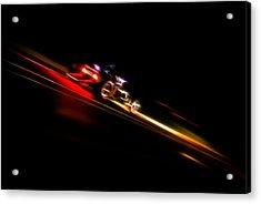Speeding Hot Rod Acrylic Print