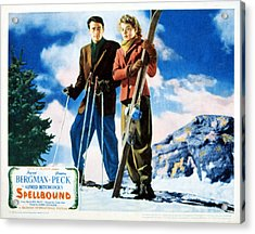 Spellbound, Gregory Peck, Ingrid Acrylic Print by Everett