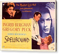 Spellbound, Ingrid Bergman, Gregory Acrylic Print by Everett