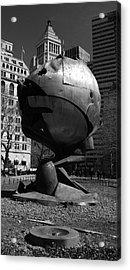Sphere Manhatta Acrylic Print by Christian Heeb