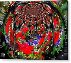 Spherical Bloom Acrylic Print by Jan Steadman-Jackson
