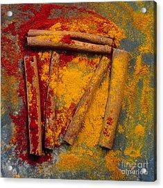 Spices Acrylic Print by Bernard Jaubert