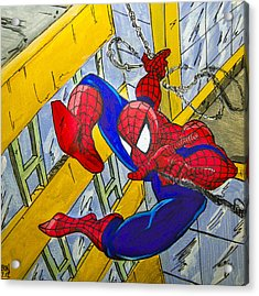 Spidey  Acrylic Print by Chris  Leon