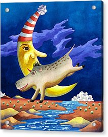 Spike The Dhog Arrives Acrylic Print by Anne Gifford