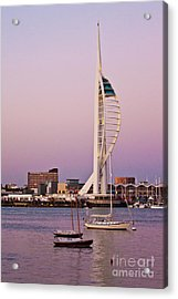 Spinnaker Tower Acrylic Print by John Basford
