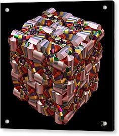 Acrylic Print featuring the digital art Spiral Box I by Manny Lorenzo