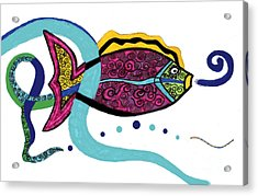 Spiral Fish Acrylic Print by Christine Perry