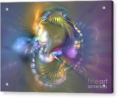 Spirit Of Nobility - Abstract Digital Art Acrylic Print by Sipo Liimatainen