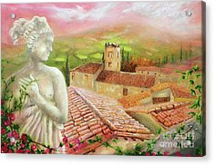 Acrylic Print featuring the painting Spirit Of Tuscany by Michael Rock