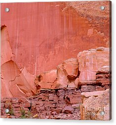Acrylic Print featuring the photograph Spirit Wall by Ann Johndro-Collins