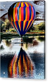 Splash And Dash With A Hot Air Balloon Acrylic Print by David Patterson