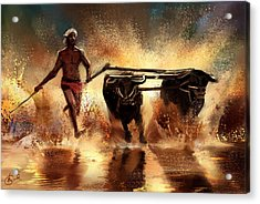 Splash Acrylic Print by Kiran Kumar