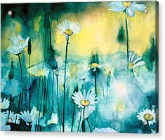 Splash Of Daisies Acrylic Print by Cyndi Brewer