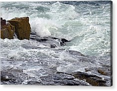Acrylic Print featuring the digital art Splash Of Sea Lace by Lynda Lehmann