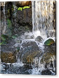 Acrylic Print featuring the photograph Splashing Water Falls by Kirsten Giving