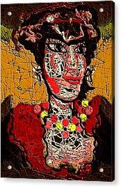 Splashy Lady Acrylic Print by Natalie Holland