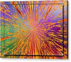 Splattered Acrylic Print by Tim Allen