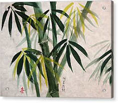 Acrylic Print featuring the painting Splendid Bamboo by Alethea McKee