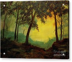 Splendid Solitude Acrylic Print by Vic  Mastis