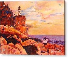 Split Rocks Golden Memories       Acrylic Print by Kathy Braud