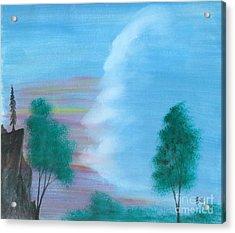 Split Sky Acrylic Print by Robert Meszaros