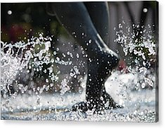 Acrylic Print featuring the photograph Sploosh by Stephanie Nuttall