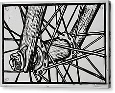 Spokes Acrylic Print by William Cauthern